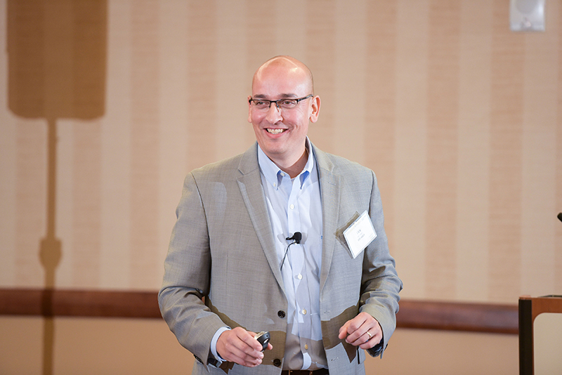 1.	Ian Adair leads breakout sessions on Saturday, Oct. 5 discussing leading with empathy, and the importance of mental health support in the workplace.