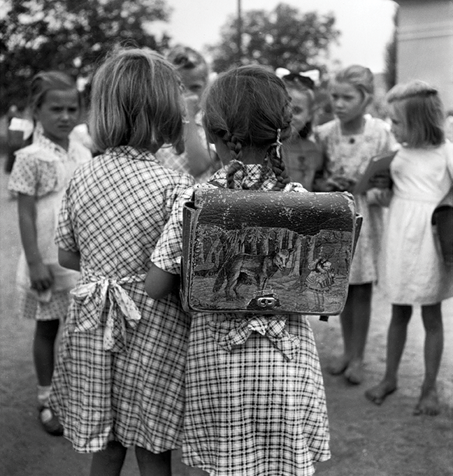Making friends on the first day of school: reaching out can be an heroic gesture.