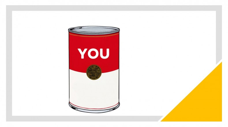 soupcan with word you on it