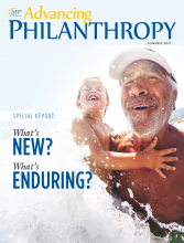 Advancing Philanthropy Summer 2017 magazine cover