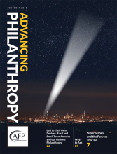 Advancing Philanthropy October 2018 cover