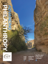 Advancing Philanthropy January 2019 magazine cover