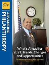 Advancing Philanthropy January 2021 cover image