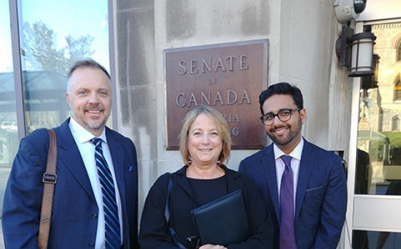 Scott Decksheimer, CFRE, chair of the AFP Canada Board, and Andrea McManus, CFRE, past chair of AFP International, appeared before the Senate Special Committee on the Charitable Sector on Monday, Sept. 17, to discuss ways to increase giving and public awareness about philanthropy.