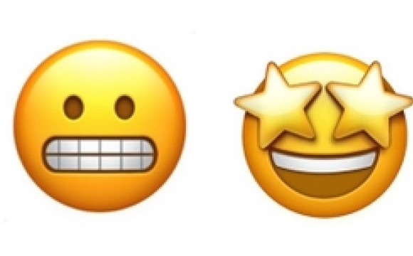 nervous emoji and excited emoji