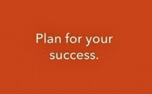image of text plan for your success