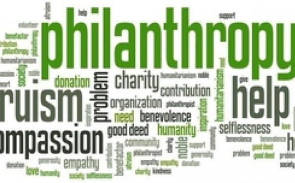 philanthropy word collage