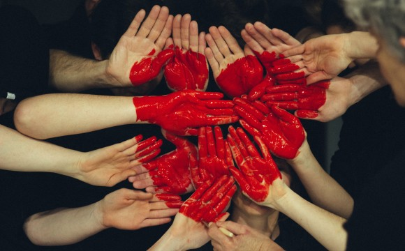 heart made of hands