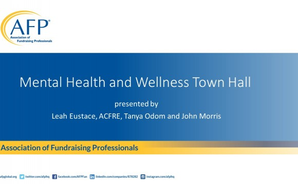 Mental Health and Wellness Town Hall slide